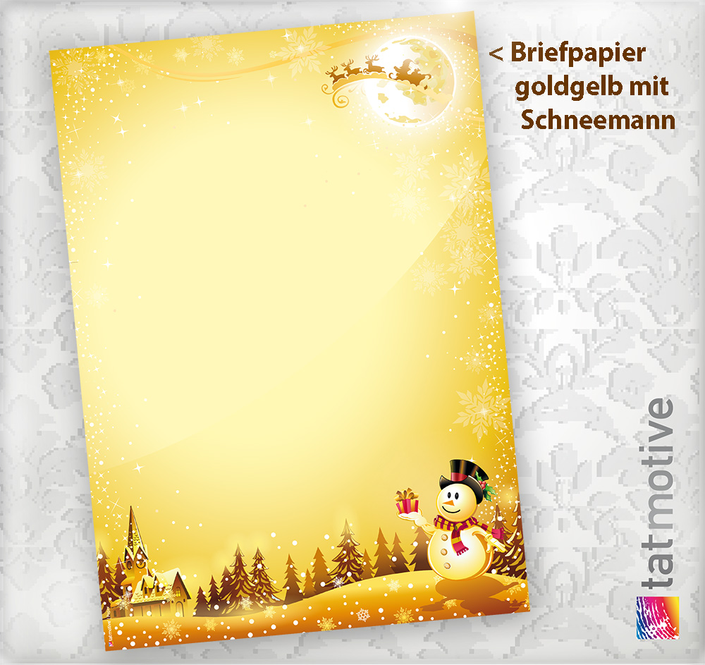 briefpapier schneemann 10 sets m f motivpapier. Black Bedroom Furniture Sets. Home Design Ideas