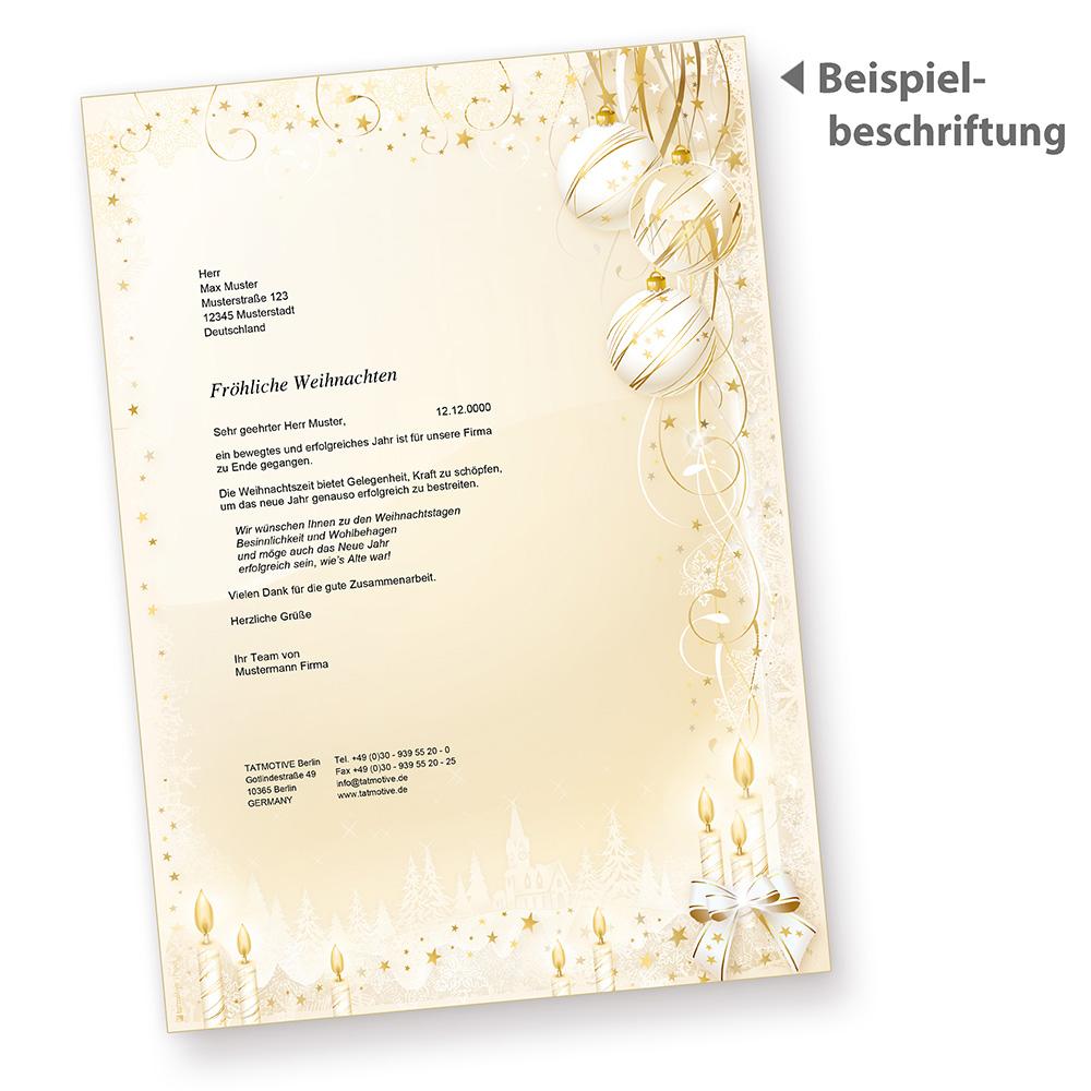 MÄRCHEN WEIHNACHTSBRIEFPAPIER 100 Blatt elegant Briefpapier ...