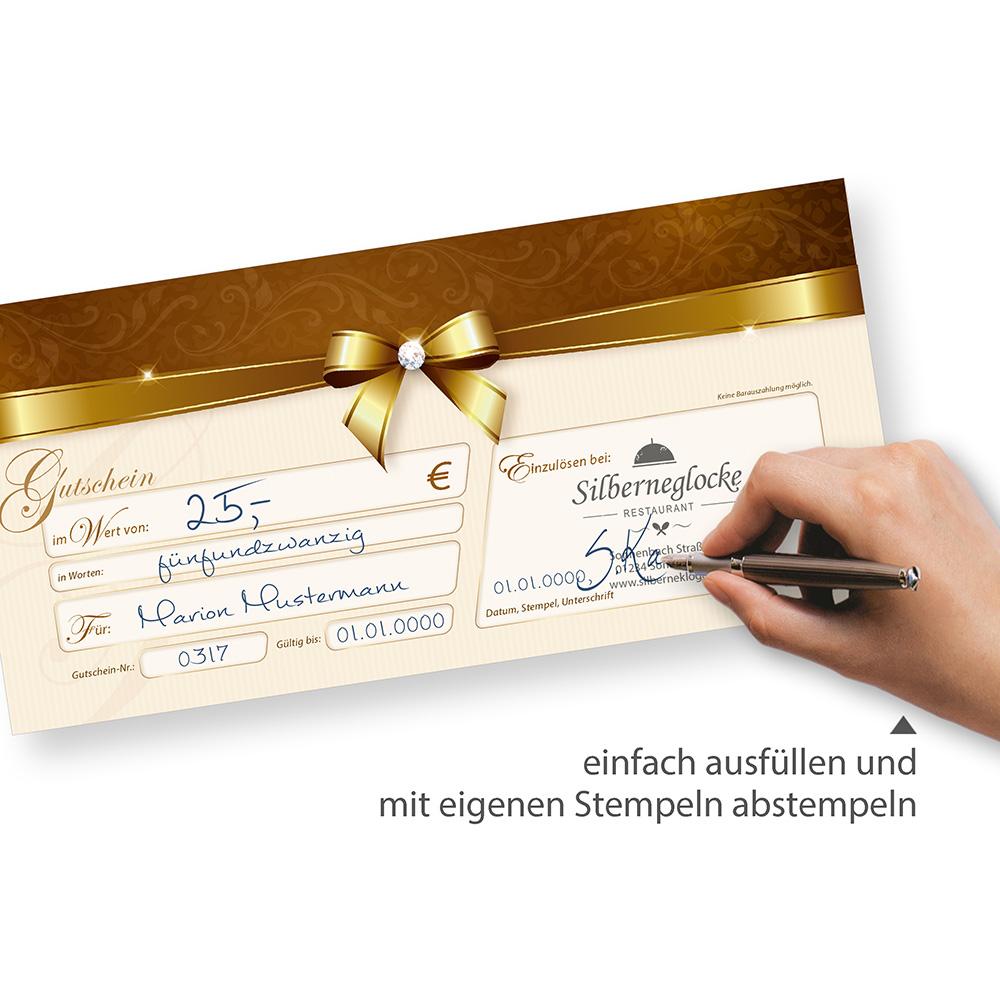 Luxury Business Geschenkgutschein Schablone Frei Ensign ...