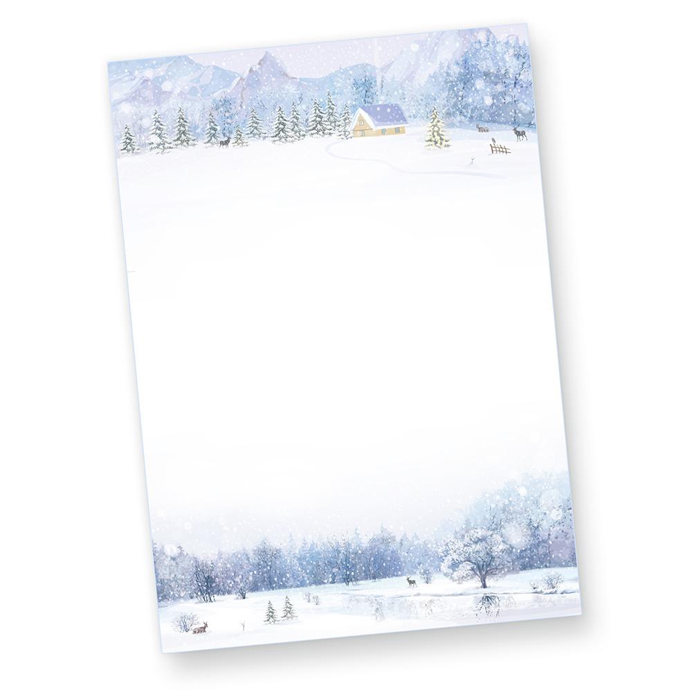 Briefpapier Weihnachten Weiße Weihnacht 25 Sets Mf Mit Umschläge