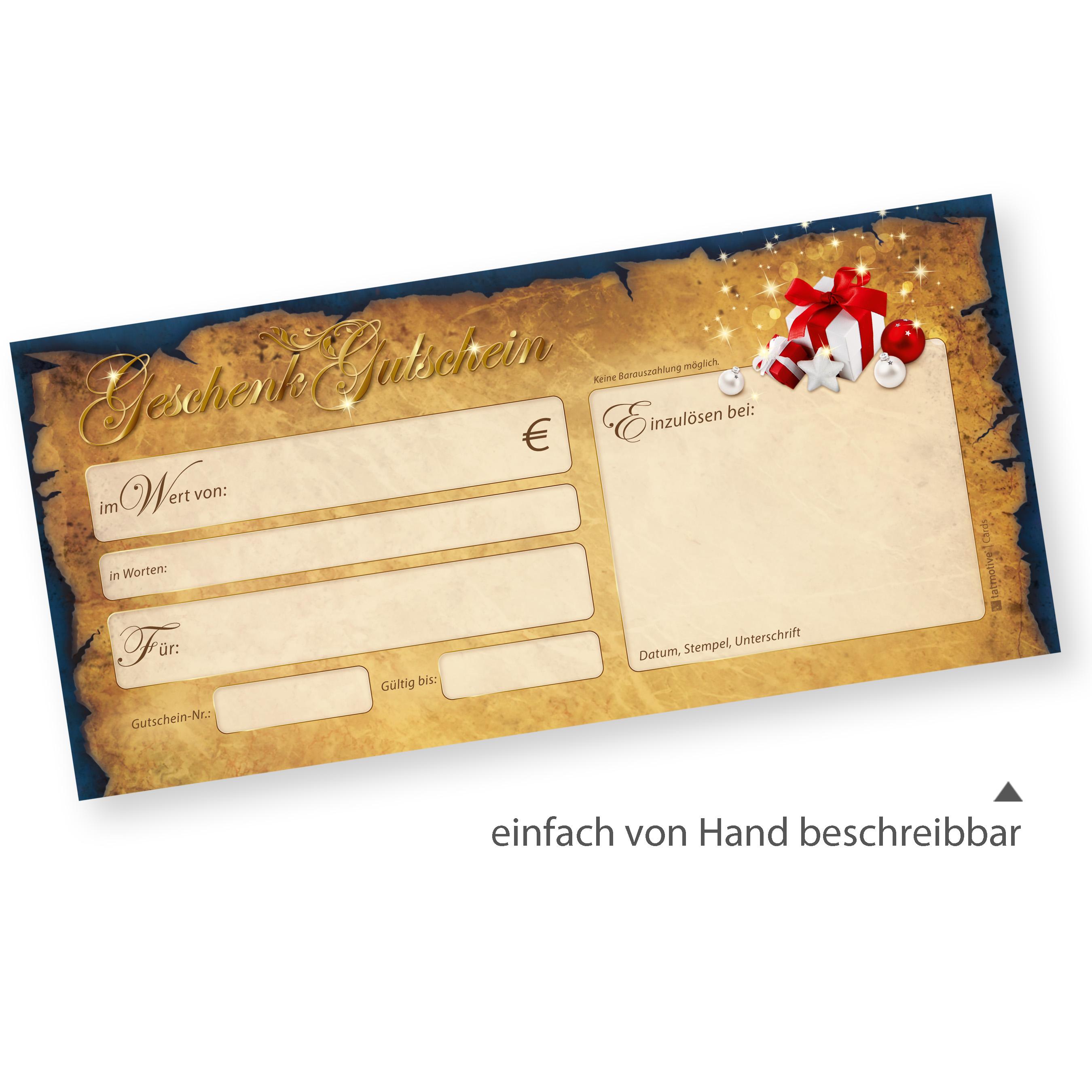 Gutscheine Weihnachten Express (50 Sets) für Restaurant mit ...