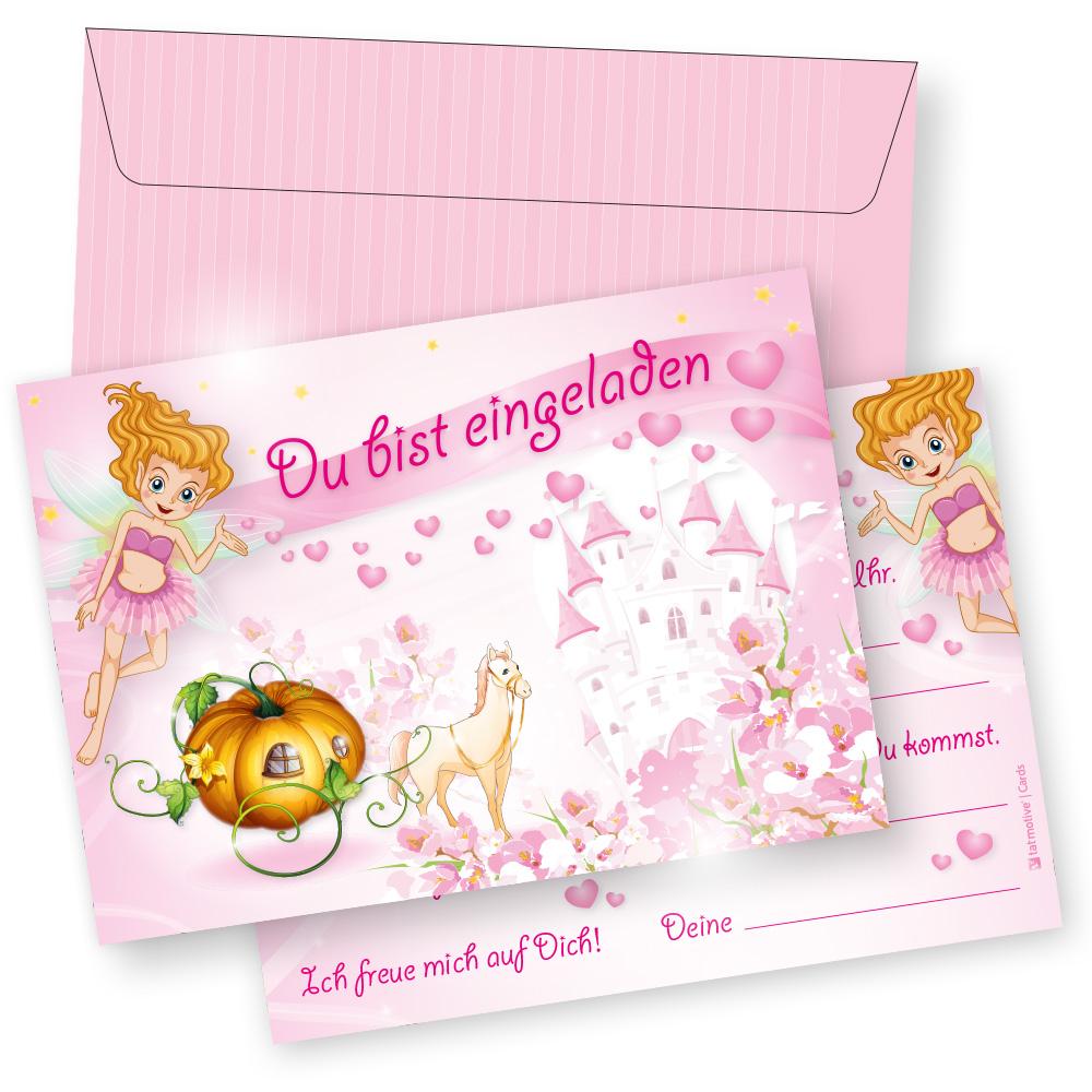 6 Einladungskarten Mädchen Einladung Geburtstag Prinzessin Ebay